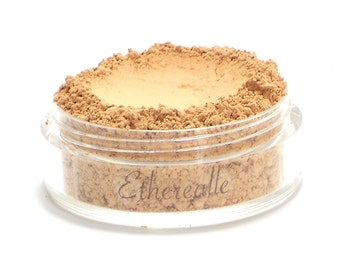 "Vegan Mineral Powder Foundation - Delicate - ""Biscotti"" (light-medium shade with pink undertone) Large Net wt 7g Jar"