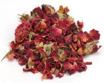 Rose (red) Buds & Petals, whole