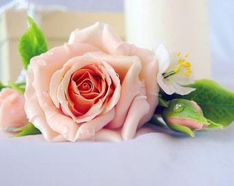 bridal hair accessories - rose flower barrette, headpieces, hair pieces, hair barrettes
