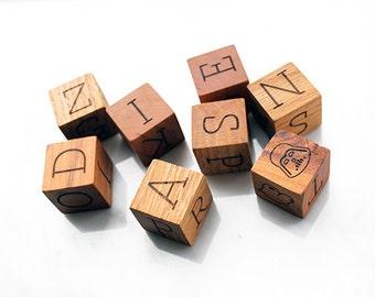 Christmas baby gift, wood baby blocks, Wood letter blocks, Baby letter blocks, alphabet blocks, baby blocks, personalized gift, baby gift