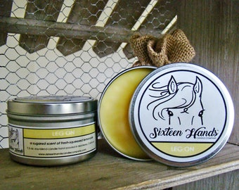 LEG ON - Horse Lover Gifts - Equestrian Gifts - Horse Candles - Equestrain Candles - Horse Show Prizes