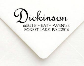 Personalized Self Inking Return Address Stamp - self inking address stamp - Custom Rubber Stamp A24
