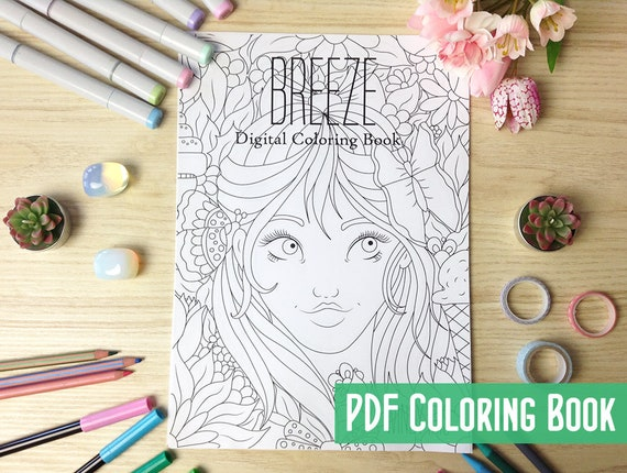 Breeze Digital Coloring Book PDF with 19 Printable Coloring