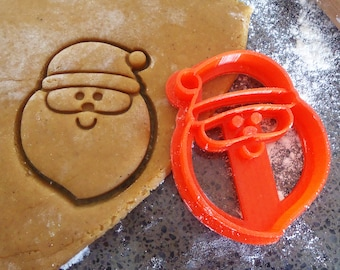 Santa 3D printed cookie cutter