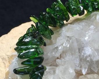 """Triple 'V"""": Vibrant, Vivacious, Verdurous - Chrome Diopside Bracelet (1A)"""