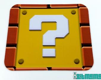 SNES Mouse Pad - Super Mario Question Mark Block