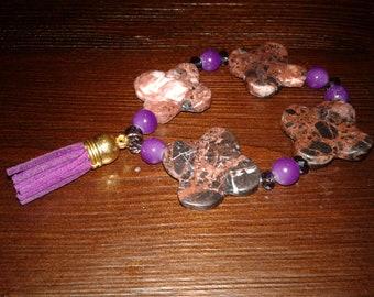 Purple Tassel Bracelet