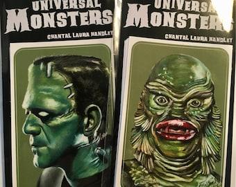 Universal Monsters Horror Art Sticker Set