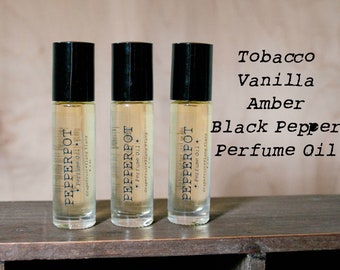 Perfume Oil Tobacco Vanilla Amber Black Pepper Perfume Oil Bath And Beauty Cosmetics Gift Under 15 Unisex Gift Pepper Pot Polish