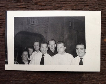 Original Vintage Photograph At The Pub With The Guys