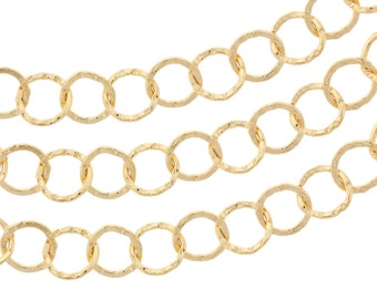 Chain, Round Diamond Pattern Cable, 14kt Gold Filled, 5.3mm - 5ft Made in USA wholesale quantity (5435-5)/1