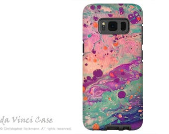 Galaxy S8 PLUS Case - Pastel Abstract Dual Layer Galaxy S 8 PLUS Case - Liquid Dreamscape - Dual Layer Case by Da Vinci Case