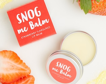 strawberry Lip Balm - Lip Balm - Lip gloss - Christmas token gift - mistletoe kiss - secret santa - stocking filler - chapstick - strawberry
