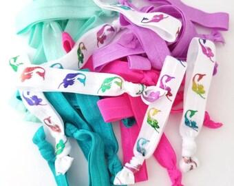 Mermaid Hair Tie Set - Mermaid Elastic Hair Ties - Elastic Hair Bands - No Crease Hair Tie Set - Yoga Hair Ties - Elastic Hair Ties