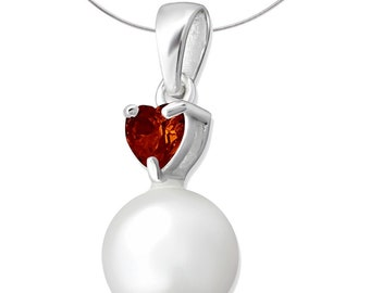 Silver And Pearl Jewellery Pendant