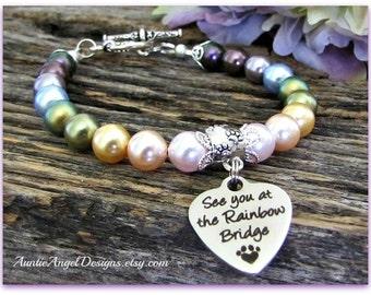 Rainbow Bridge Gift, Rainbow Bridge, Pet Memorial Gift, Pet Sympathy, Dog Sympathy, Rainbow Bridge Poem Pet Memorial, Death of Pet Jewelry