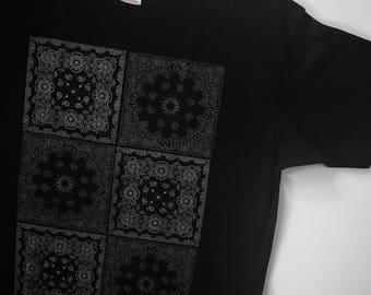 Paisley Squares 2x3 T Shirt