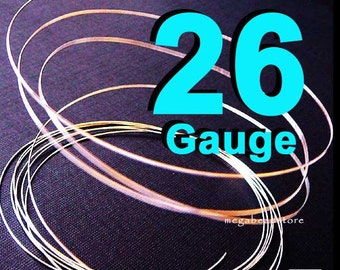 20 feet 26 Gauge 925 Sterling Silver Wire Dead Soft (DS)