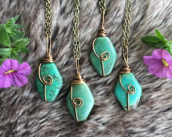 Genuine Turquoise necklace, turquoise necklace,   gemstone necklace,  turquoise