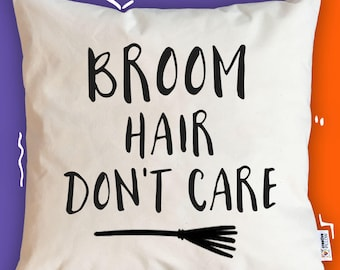 Halloween pillow cover fall pillow case broom hair don't care witch pillow boo pillow for halloween spooky pillow halloween throw pillowcase