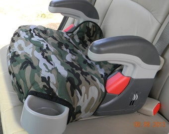 Car Accessory Booster Seat Replacement Graco Turbo Cover Green Camoflauge Padded