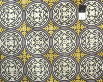 Joel Dewberry JD44 Aviary 2 Scrollwork Granite Cotton Fabric By Yard