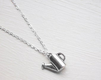 Watering Can Necklace - Gardening Necklace - Wateringcan Charm Pendant