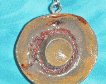 Cowboy Hat Brown Resin Ranch ~ Ceiling Fan Pull Chain