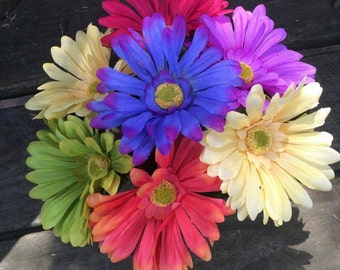 Handcrafted Flower Pen For Bouquet Various Colors You Choose Quantity Blue Or Black Ink