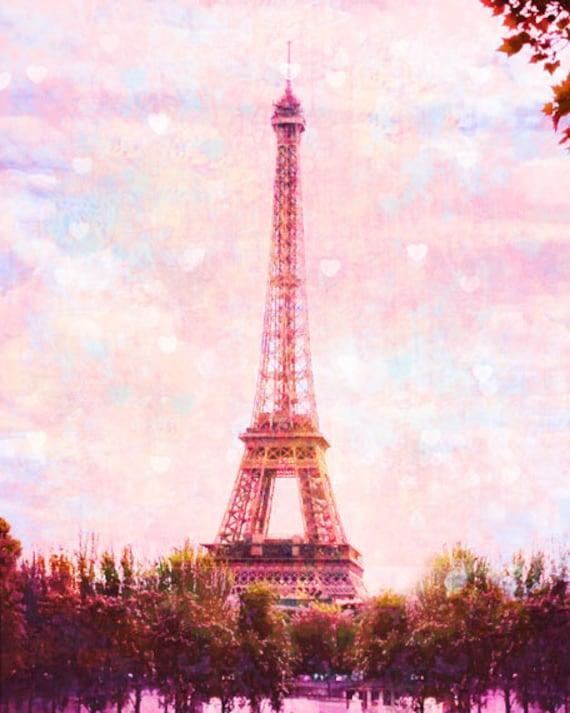 Pink paris eiffel tower photography paris art print pink - Paris tower live wallpaper ...