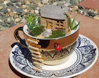 Fairy House Tea Cup Garden