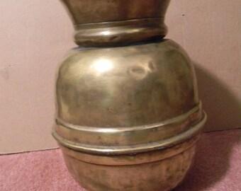"""Antique 11 3/4"""" Tall Brass Spittoon"""
