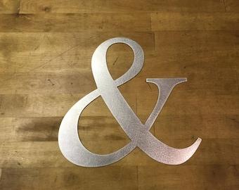 Ampersand sign metal steel wall decor