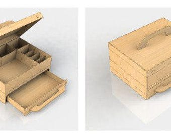 Heart Shaped Gift Box Plans Jewelry Box for Laser CNC Routing