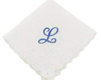 Cursive Monogram Wedding Handkerchief - CH2013