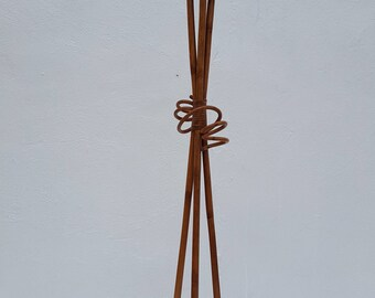 Paul Frankl Style Bamboo Floor Lamp.