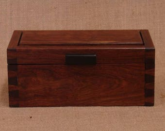 Exotic Wood Box; Chechen Hand-cut Dovetails