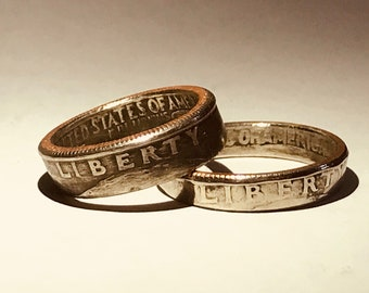 Quarter ******Liberty Coin Rings ************ select your size **********