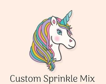 Edible Sprinkles - Custom Sprinkle Mix - 8 oz Design your own Sprinkle Mix