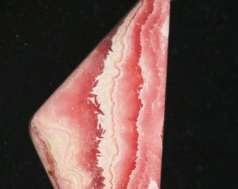Rhodochrosite pendant, red white pink, jump bail 137ct Price Reduced