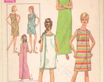 Simplicity 7572 1960s  Misses 3 Armhole  Wrap Dress Pattern Womens Vintage Sewing Pattern Size SM Bust 31 32 Or Medium