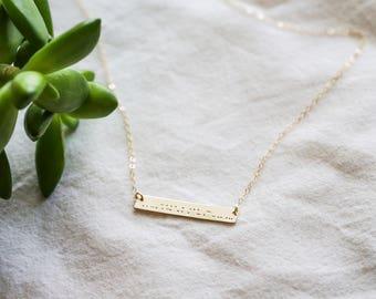 Best Friend Morse Code Necklace - Morse Code Necklace - Friend Morse Code - Morse Code Jewelry - Gift for Her - Secret Message Necklace
