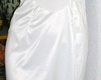 Vintage 50s, cream, antron nylon, full slip, lace trim, size 34