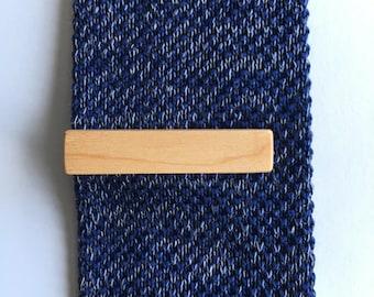 Maple Tie Clip - wood tie clip - wooden tie clip - wedding accessories - groom