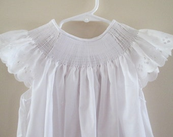 Ready-To-Smock Girl's Bishop Style Dress with Angel Sleeves - Custom Made