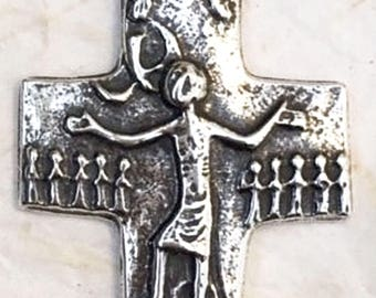Egino Weinert | Cross | Crucifix | Trinity | German | Sterling Silver | Bronze | Religious | Catholic | Jewelry | Necklace | Pendant #1369