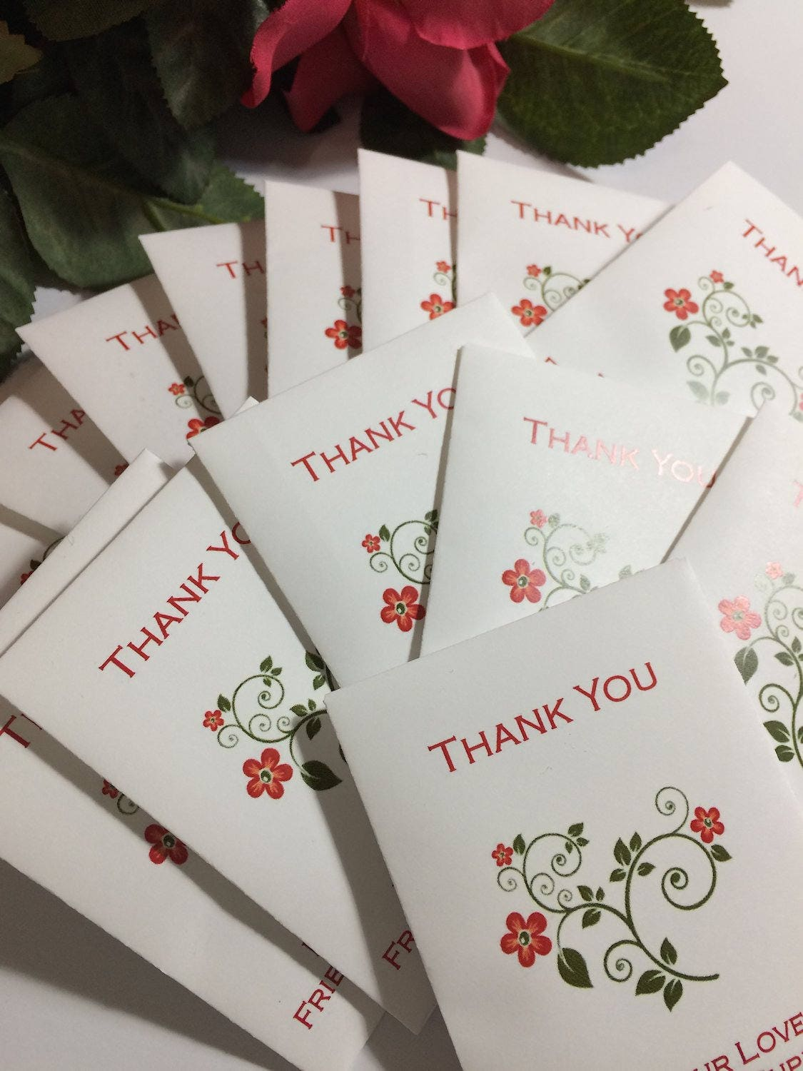 20 Thank You Seed Packets Floral Bloom Wildflower Seeds Custom