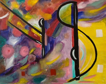 """Original Contemporary Abstract Painting Titled """" Fall Into"""""""