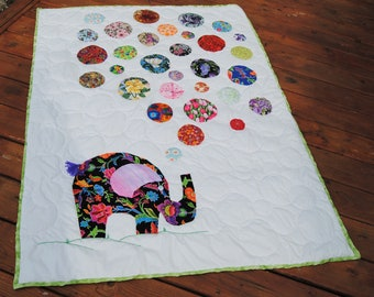 Baby Floral Elephant Quilt