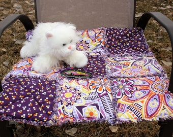 Cat Bed, Pet Blanket, Cat Quilt, Cat Travel Blanket, Purple Cat Blanket, Pet Bedding, Handmade Cat Bed, Colorado Catnip Bed, Pet Supplies